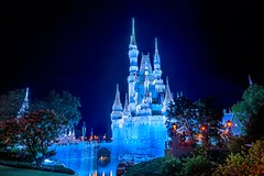 Castle Dreamlights | Magic Kingdom (Pandry 2015) Tags: winter sky nighttime castle dreamlights disneyparks canon canon6d themepark christmasdecorations christmaslights orlando nightphotography christmas disneychristmas cinderellacastle cinderella fantasyland magickingdom disneyland waltdisneyworld wdw disney