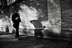 Walking Coffee (Bury Gardener) Tags: bw blackandwhite britain monochrome mono cambridgeshire cambridge england uk streetphotography street streetcandids snaps strangers candid candids people peoplewatching folks
