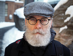 Richard (jeffcbowen) Tags: richard street stranger thehumanfamily portrait glasses hat beard toronto