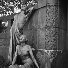 Östra Kyrkogården (rotabaga) Tags: sverige sweden svartvitt göteborg gothenburg lomo lomography lubitel166 mediumformat mellanformat 120 6x6 diy fomapan twinlens
