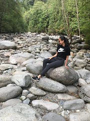 Lynn Canyon Park Summer Hike 2018 - Daria Astanaeva (dariaast) Tags: hike summer vancouver hiking adventures active girl outdoor activity