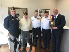 Neptune Society Cincinnati, OH - Local VFW Post 7679 Presents Manager David Bussa with a Plaque Thanking Office for Donation