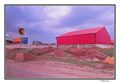 red warehouse (harrypwt) Tags: harrypwt africa afrika borders framed nigeria paintinglike lagos canons95 s95 red street road house