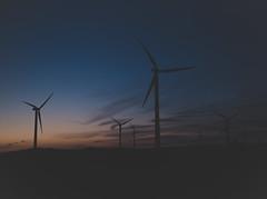 Carnsore Dusk (shaymurphy) Tags: carnsore point wexford ireland wind turbine windfarm farm power alternative energy green natural alternate irish smp2345 blue sky clouds field meadow night long exposure sunset dusk nikon d750