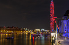 Thames lights (Vigor11) Tags: london lights river thames nightshot longexposure trees winter buildings cool lines londoneye lamps orange lilac brown red blue movement boats bridge reflections shadows landscape