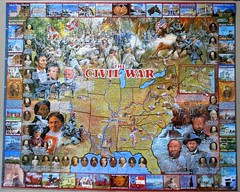 The Civil War (pefkosmad) Tags: jigsaw puzzle hobby leisure pastime complete used secondhand cardboard thecivilwar whitemountainpuzzles history illustration