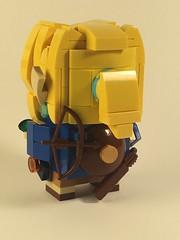 Link from Breath of the Wild, brickheadz (Spawnwrithe) Tags: brickheadz moc lego afol creation mini figure nintendo zelda link breath wild blue hyrule cute hair