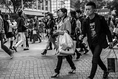 Wow! That Lemon I Ate Yesterday Was Really Sour (burnt dirt) Tags: asian japan tokyo shibuya station streetphotography documentary candid portrait fujifilm xt1 bw blackandwhite laugh smile cute sexy latina young girl woman japanese korean thai dress skirt shorts jeans jacket leather pants boots heels stilettos bra stockings tights yogapants leggings couple lovers friends longhair shorthair ponytail cellphone glasses sunglasses blonde brunette redhead tattoo model train bus busstation metro city town downtown sidewalk pretty beautiful selfie fashion pregnant sweater people person costume cosplay boobs