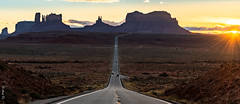 Good Night (Arup De) Tags: sunset monumentvalley monument valley arizona route 163 route163 highway freeway road rock mountain sun silhouette landscape scenic secnicdrive nikon d500 sky cloud