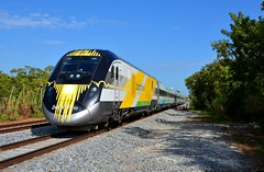 Brightline 104 Bright Blue Train. Miami, FL (bobchesarek) Tags: brightline passengertrain commutertrain brightlinebrightblue locomotive railroad railfan trains tracks miami florida
