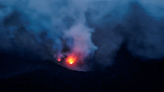 The Silent Glow (blue polaris) Tags: italy sicily aeolian islands isole eolie stromboli volcano steam fumaroles landscape travel dusk