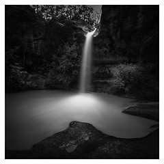 The little pool (Marco Maljaars) Tags: marcomaljaars longexposure le mood blackandwhite france drome waterscape mountain waterfall river water rock trees monochrome pool pontaix cascades pontaixcascades