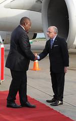 Llegada de Cyril Ramaphosa, presidente de Sudáfrica