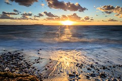 Stürmischer Sonnenuntergang (Re Ca) Tags: balticsea germany mecklenburgvorpommern ostsee rügen dranske seascape sea meer strand sonnenuntergang sunset longexposure langzeitbelichtung