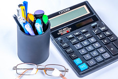 Glasses, calculator and pens (wuestenigel) Tags: number subtraction education keyboard pencils screen character electronics press calculator business finance button symbol pens glasses operations black mathematical action count desk work accounting financial buttons geschäft equipment ausrüstung noperson keineperson data daten elektronik technology technologie office büro taschenrechner computer paper papier isolated isoliert display anzeige nummer composition zusammensetzung plastic kunststoff mathematics mathematik desktop laptop
