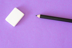 Pencil and eraser (Rushay) Tags: backgrounds education copyspace directlyabove eraser pencil purple portelizabeth southafrica