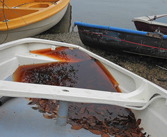Beached?  15.11.18. (VolVal) Tags: dorset bournemouth tuckton boats riverside autumn november