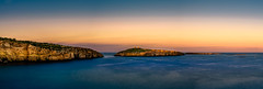St. Paul's Island (K.H.Reichert [ not explored ]) Tags: sea longexposure goldenhour sonnenuntergang ocean meer sunset malta felsen island sky seascape panorama coast twighlight rocks