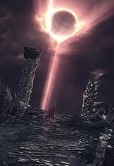 """Eclipse"" (L1netty) Tags: darksouls3 darksouls ds fromsoftware bandainamcoentertainment bandainamco pc game gaming pcgaming videogame reshade screenshot 4k character ashenone man male people knight warrior kilnofthefirstflame sun clouds eclipse color outdoor fantasy"