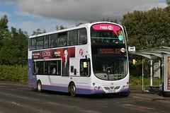 First Glasgow SF09 LDN (37741) | Route 57 | Springburn Road, Springburn (Strathclyder) Tags: first glasgow firstglasgow volvo b9tl wright eclipse gemini sf09 ldn sl09ldn 37741 springburn road scotland olympialivery caledonia dv167