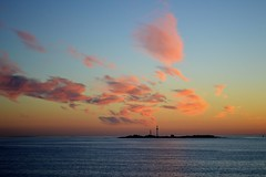 Gulf of Finland Sunset (Seventh Heaven Photography *) Tags: gulf finland water sea sunset dusk sky clouds nikon d3200 red blue orange island reflections