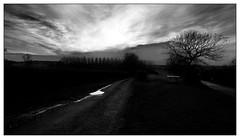 Wintery sunset over Clomot (Wilco1954) Tags: burgundy mono clomot bourgogne sunset cotedor farmland