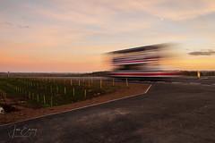 Bypass Sunset (Jamarem) Tags: kegworth leicestershire bypass openingday sunset bus slow shutter paulwinson blur motion