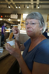 Kathy in Italy (JRR) Tags: italy kathy wife eating food gelato trainstition rome