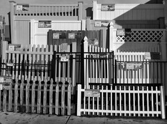Fences For Sale (arbyreed) Tags: arbyreed monochrome bw blackandwhite fence fences fencesamples lowes fencefriday dontfencemein hff explore