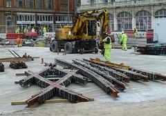 20181119 Talbot Square Tramway in Blackpool (blackpoolbeach) Tags: blackpool tramway tram track rails crossing doublejunction streetcar talbotsquare concrete construction breffni roadrail steconfer
