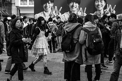Her Blind Date Went Exactly As Planned (burnt dirt) Tags: asian japan tokyo shibuya station streetphotography documentary candid portrait fujifilm xt1 bw blackandwhite laugh smile cute sexy latina young girl woman japanese korean thai dress skirt shorts jeans jacket leather pants boots heels stilettos bra stockings tights yogapants leggings couple lovers friends longhair shorthair ponytail cellphone glasses sunglasses blonde brunette redhead tattoo model train bus busstation metro city town downtown sidewalk pretty beautiful selfie fashion pregnant sweater people person costume cosplay boobs halloween shibuyahalloween