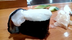 Sushi #3 from Ten Sushi in Kokura (Fuyuhiko) Tags: sushi from ten kokura 鮨 寿司 天寿し 子くらい 小倉 九州 牡蠣 かき カキ oyster 北九州 北九州市 kitakyushu