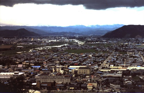 Looking north from Sabae city toward the capital, Fukui