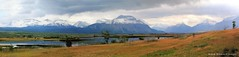 View over Lower Waterton Lake to Vimy Peak & other Mountains of Waterton National Park from, Hwy 5, Alberta, Canada (Black Diamond Images) Tags: watertonlakesnationalpark watertonlakes waterton msice sofamountain vimypeak mountboswell westernusatrip2018 canond60 1770 2018 microsoftimagecompositeeditor msicepanorama alberta watertonlakesnationalparkofcanada parcnationalducanadadeslacswaterton canada mountain mountainside snow landscape sky townshiproad hwy5 mountainrange mountains lowerwatertonlake travelalberta albertatravel albertaholiday holidayalberta