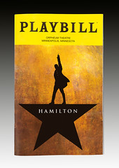 The playbill for the musical Hamilton at the Orpheum Theatre in Minneapolis, Minnesota (thstrand) Tags: alexanderhamilton american americans arts broadwaymusical cover culturalheritage entertainment foundingfather graphicdesign hamilton historic historical history isolated linmanuelmiranda mn minneapolis minnesota musical musicals nobody orpheumtheater orpheumtheatre performingarts play playbill playbills plays popularculture productions program programs stageproduction theater theaters us usa unitedstates unitedstatesofamerica yellowandblackcolors