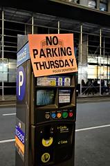 No Parking Thursday (pjpink) Tags: garmentdistrict nyc newyork newyorkcity ny urban city november 2018 fall pjpink 2catswithcameras parking parkingmeter noparking