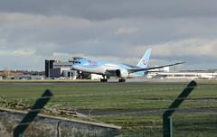 Photo of G-TUIH take off.