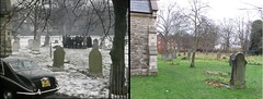 """""""Oi! Gently."""" (Trotter's Ethnic Tours) Tags: ofah location only fools horses del derek onlyfoolsandhorses comedy funeral london hammersmith margravine margravineroad trotter rodney unclealbert grandad 2018 then now before after 1985 snow graveyard"""