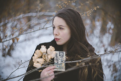 Life and Death (Sarah Sonny) Tags: portrait tarot witch woman spiritual woods outdoors swirlybokeh bokeh helios442 helios