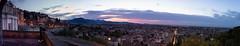 Bergamo Panorama (freemanphoto) Tags: bergamo lombardia italia italy pano panoramica morning sunrise alba bluehour orablue mura venete venetian wall unesco heritage warn uppercity uppertown lowercity sky cielo cloud cloudy clouds city