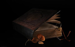 The magic of old books (Matthias_M.) Tags: book stilllive blackbackground magic
