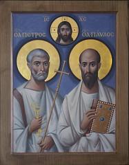 Образ апостолов Петра и Павла (в технике энкаустики)