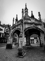 Poultry Cross - Salisbury - UK (phil_king) Tags: salisbury market poultry cross stone medieval structure city wiltshire england uk monochrome blackandwhite