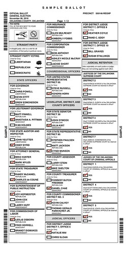 Wes' Ballot Part 1 (Nov 2018) by Wesley Fryer, on Flickr