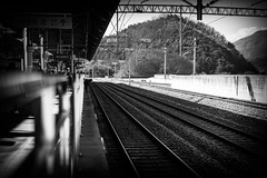 Gapyeong Train Station (sydbad) Tags: gapyeong train station southkorea sony sonya7 ilce7mk2 sel55f18z outside bw blackandwhite alienskin