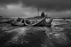 Admiral Von Tromp (Glenn D Reay) Tags: admiralvontromp saltwickbay whitby windy storm blackandwhite mono shipwreck seascape pentaxart pentax k70 glennreay