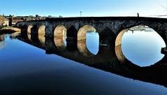 Calm (Tobymeg) Tags: reflection old bridge dumfries scotland circles river nith water blue calm sandstone