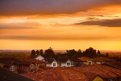 SoCal Sunset (Bryan Nabong) Tags: california homes northamerica orangecounty residential rooftop southerncalifornia sunset unitedstates yorbalinda