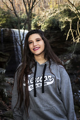 3Q0A9880 (agentsmj) Tags: girl teen teenager woman brunette senior portrait ohiopyle pennsylvania outdoors cold weather november 2018 cute funny state park