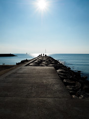 _1190192 (Zaida_cv) Tags: depth sitges catalonia winter landscape ocean sea mediterranean sun water blue silhouette nature